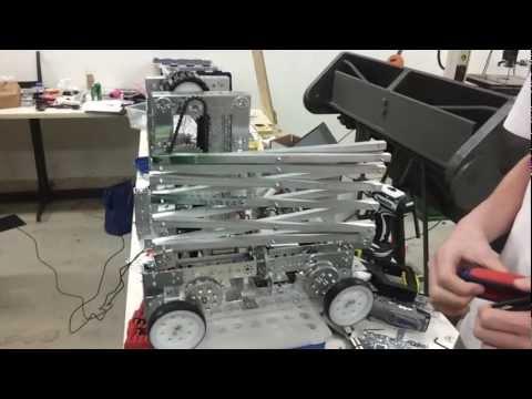 FTC 5598 Parish Robotics Scissor Lift Test