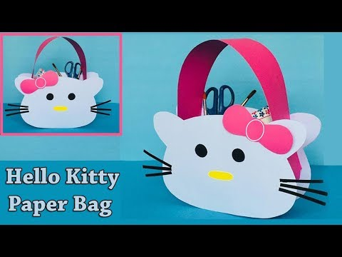 DIY Hello Kitty Paper Bag | How to Make a Paper Bag | Easy and Cute Paper Gift Bag