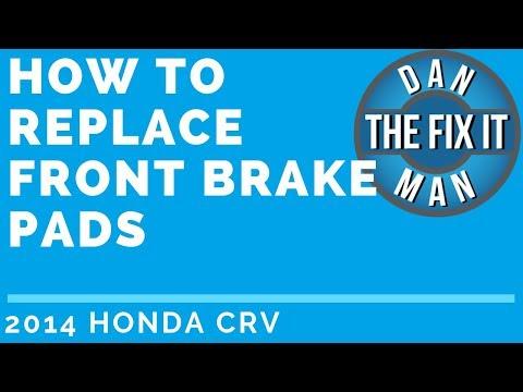 2014 Honda CRV - HOW TO REPLACE FRONT BRAKE PADS -DIY