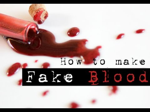 Perfect Fake Blood Recipe..... WITHOUT Corn Syrup, EDIBLE!!