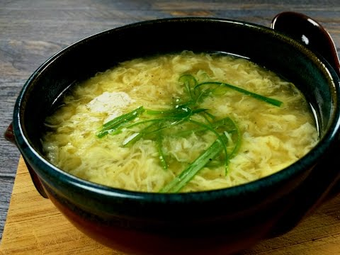 Egg Drop Soup 蛋花湯 (Restaurant Style)  ♥ Beautiful and Tasty!