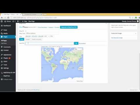 Wordpress Tutorial   MapPress Easy Google Maps