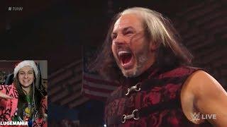 WWE Christmas Raw 2017 Woken Matt Hardy interrupts Bray