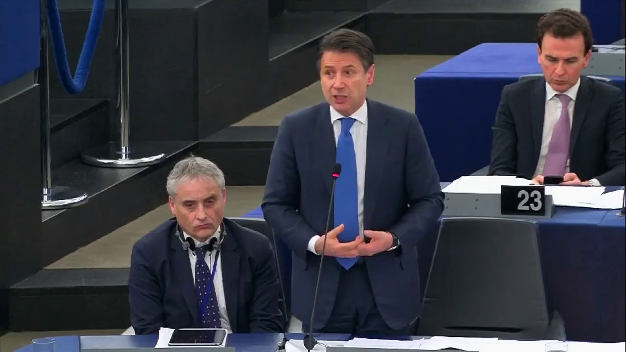 Il Presidente Conte a Strasburgo
