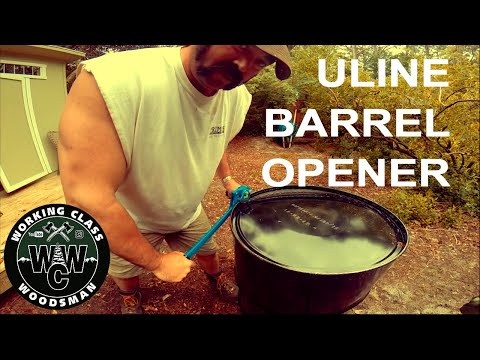 How to safely cut the top off a 55 gallon steel drum (with Uline Barrel Opener)
