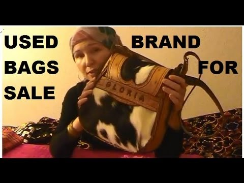 Used Leather brand handbags tote bags for sale Fossil Carla Marchi & more