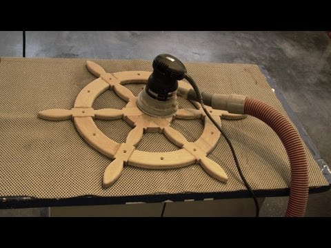 DIY - Ships Helm Steering Wheel - Nautical Decor