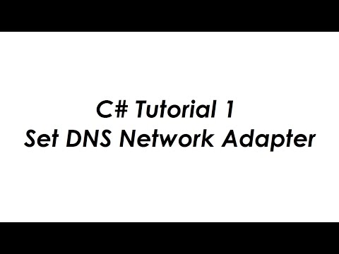 C# Set DNS Network Adapter