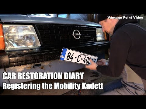VRT Importing A Classic Car into Ireland, Mobi gets Number Plates