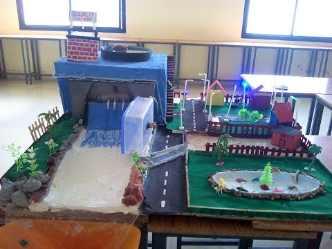 Working model of Dam - Hydroelectric Dam (Science Project)