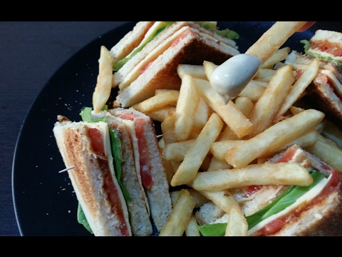 Gluten free club sandwich ! Vegan and healthy !