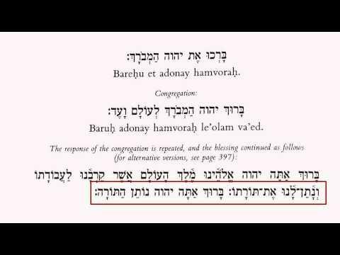 Aliyah to the Torah Blessings