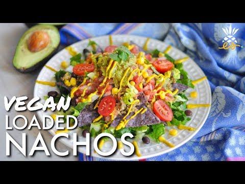 Vegan Loaded Nachos & Romaine Taco Boats For A Super Bowl Fiesta!
