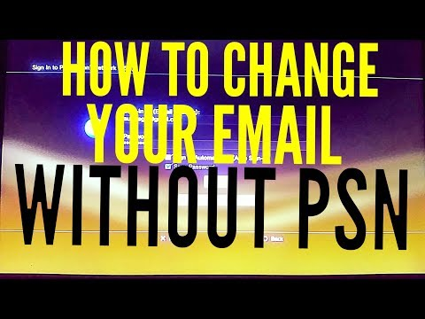 How to change your email on ps3 without psn