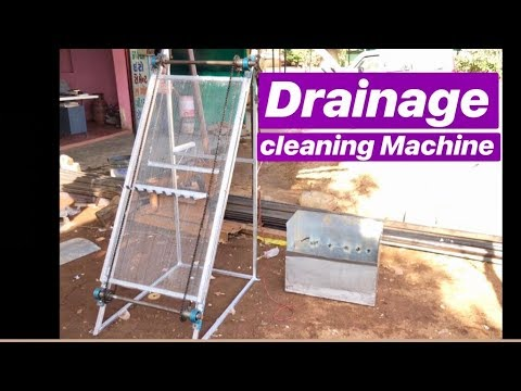 Drainage cleaning machine   solid waste removal