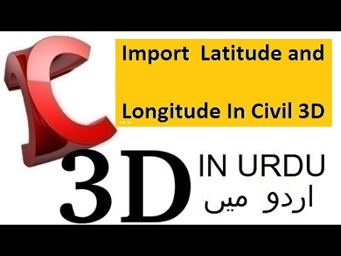 Import  Point Latitude and Longitude In Civil 3D