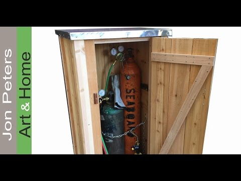 Make a Small Tool Shed / Welding Tank Storage Cabinet