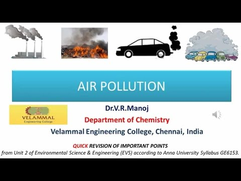 Air Pollution for Environmental Science & Engineering , Competitive exams, IAS,UPSC