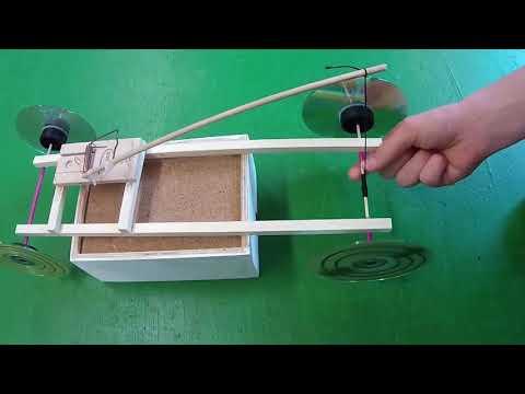 Mausefallenauto Bauanleitung - How to build a mousetrap car