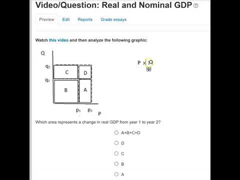 Video/Question Real and Nominal GDP Explanation