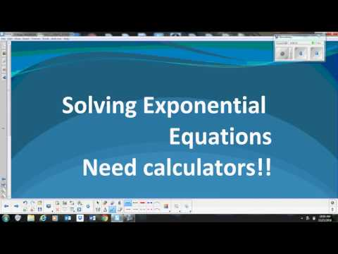 Solving Exponential Equations with unlike bases