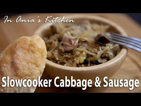 Slow Cooker Cabbage & Sausage - Kapusta z Kiełbasą z Wolnowaru - Recipe #292