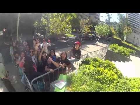 Fãs na Porta do Hotel no Chile!