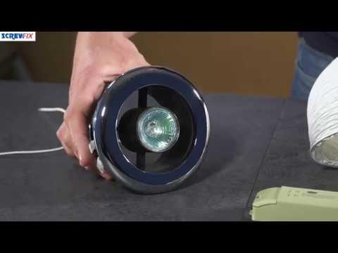 MANROSE SHOWER LIGHT & EXTRACTOR FAN KIT CHROME 100MM | Screwfix