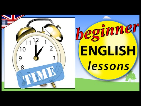 Telling the time in English | Beginner English Lessons for Children