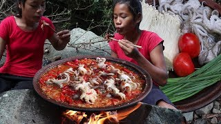 Mushroom curry with Tomatoes and octopus for Food ideas - Cooking Mushroom with octopus # 95