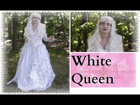 How To Make The White Queen Costume and Makeup - Alice In Wonderland/Through The Looking Glass