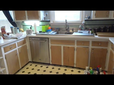 replace kitchen faucet & reinstall dishwasher