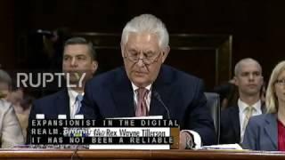 USA: Tillerson slams China during Senate confirmation hearing