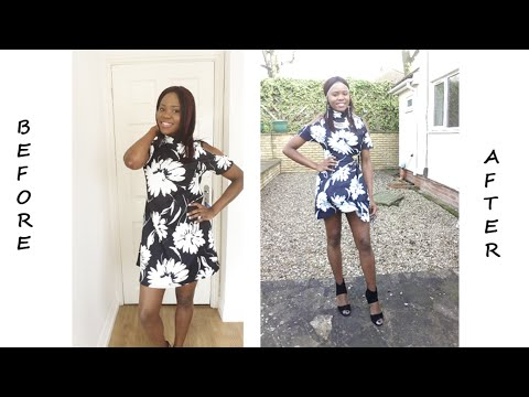 DIY: Alter a loose baggy dress | fast and simple | no sewing required