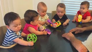 How This Dad Feeds Quintuplets at the Same Time