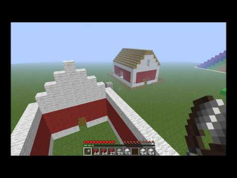 How to Make a Quick and Easy Barn In Minecraft