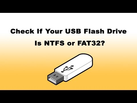 How to Check USB Flash Drive File System (NTFS or FAT32)