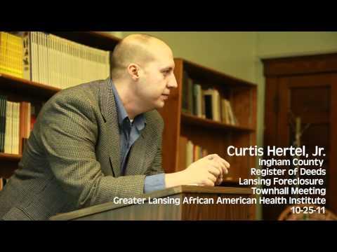 Register of Deeds Curtis Hertel, Jr., Explains the Foreclosure Mess - Pt 1