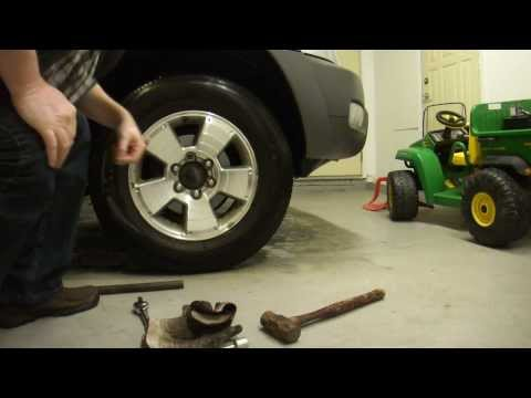 How to Extract or Remove broken or stubborn locking lug nuts on a car or SUV without a key.