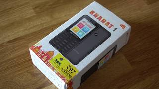 Micromax Bharat 1 Unboxing, Features, Apps - JioPhone Alternative
