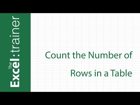 Excel: How to Count the Number of Rows in a Table