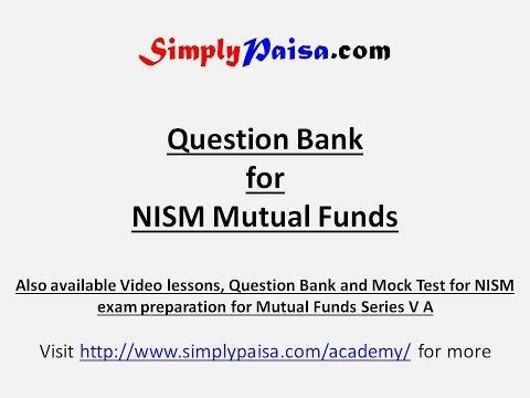 NISM Series VA Mutual Fund Question Bank