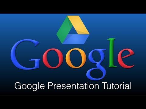 Google Presentation Tutorial How To Use Google Presentation On A Computer