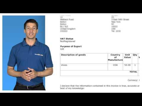 Parcel2go - Commercial Invoice