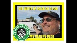 Adding 915 Watts of Solar Panels To Van Roof