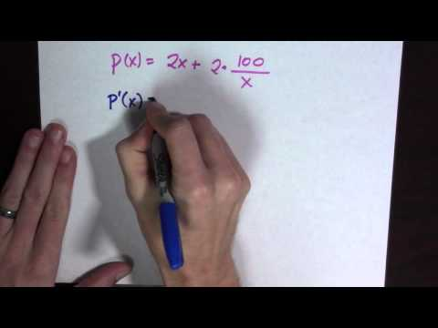 A rectangle with the smallest perimeter for a given area