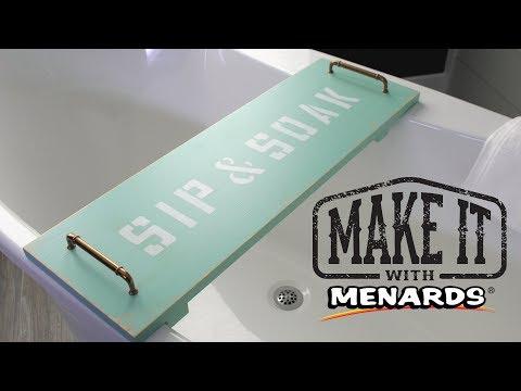 Bathtub Tray - Make It With Menards