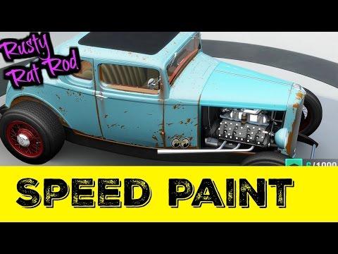 Speed Painting a Rusty Rat Rod
