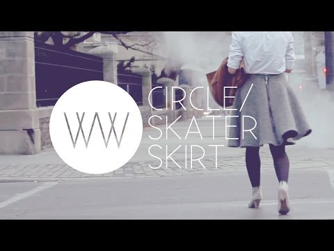 How to Make a Circle/Skater Skirt | WITHWENDY