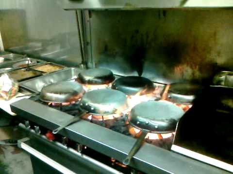 How to clean carbon off of sautee pans.